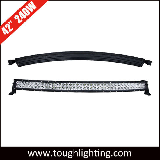 Wholesale 12V 40in 240W Double Row LED Curved Light Bars on Top of Trucks pictures & photos