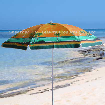 210d Oxford Beach Umbrella with UV Protection (OCT-BUO3)