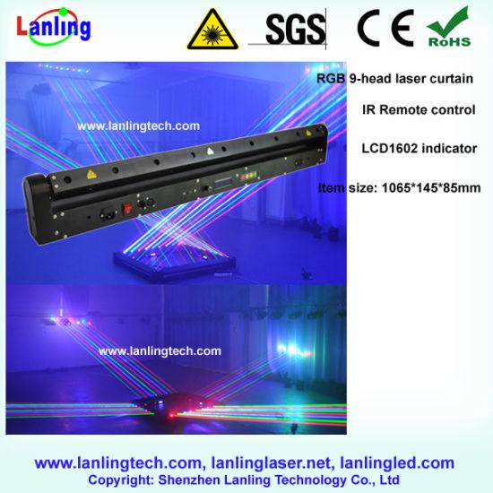 New RGB 1650MW 9-Lens Moving Head Laser Curtain Light