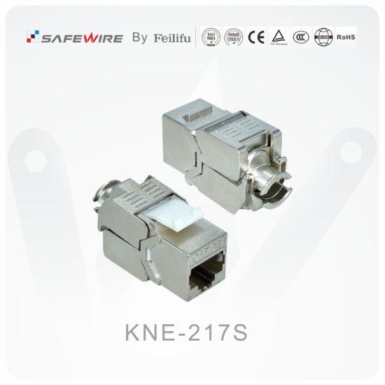 CAT6/CAT6A 110 IDC Zinc Alloy Shielded Keystone Network