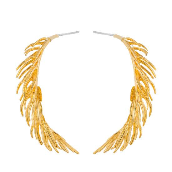 Gold Color Geometry Design Dangle Earrings Female Metallic Party Jewelry