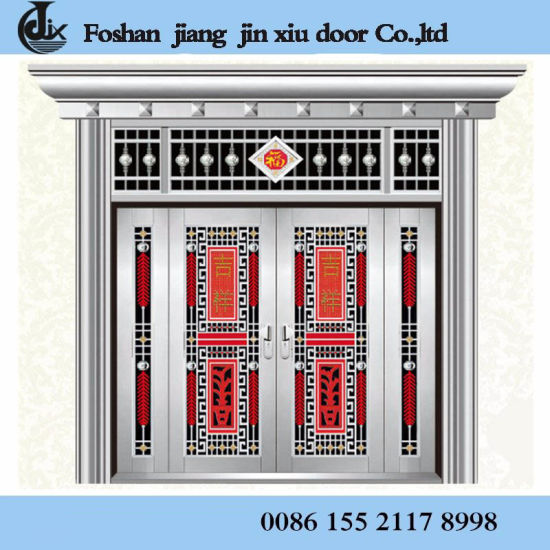 China 2018 Wholesale Double Leaf Steel Interior Door Exterior Gate