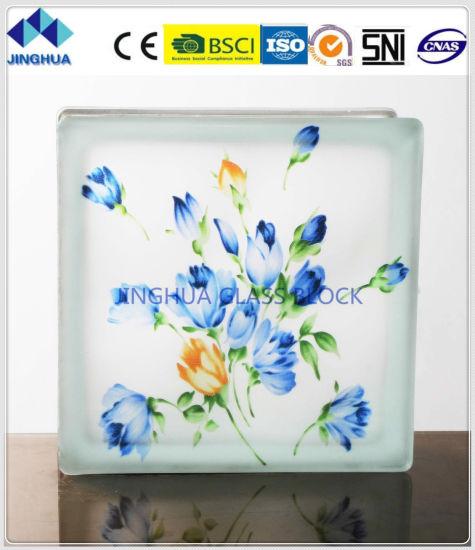 Jinghua High Quality Best Price Artistic P-2 Painting Glass Block/Brick