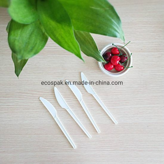 """Heavy Weight Compostable Biodegradable Disposable 6.5"""" Cpla Cutlery Picnic Knife"""