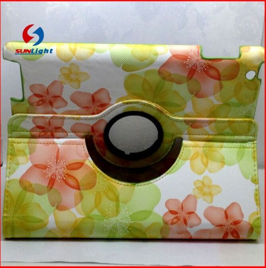 360 Rotate Case for iPad Air Flower Design pictures & photos