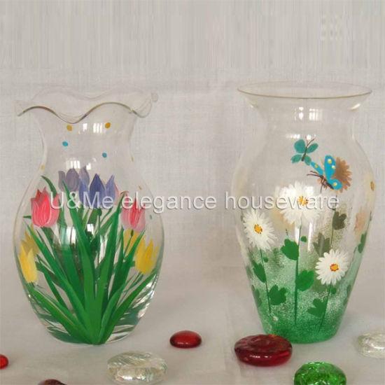 Hand Made Extra Large Vicenza Glass Marble Style Glass Flower Vase Bottle Vase