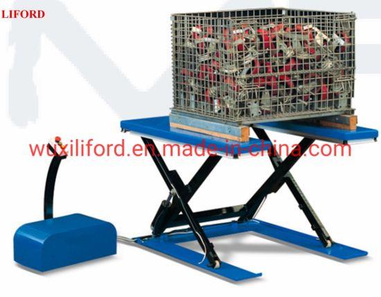 U-Shape Handing Equipment 1.5 Tons Hydraulic Electric Lifting Table