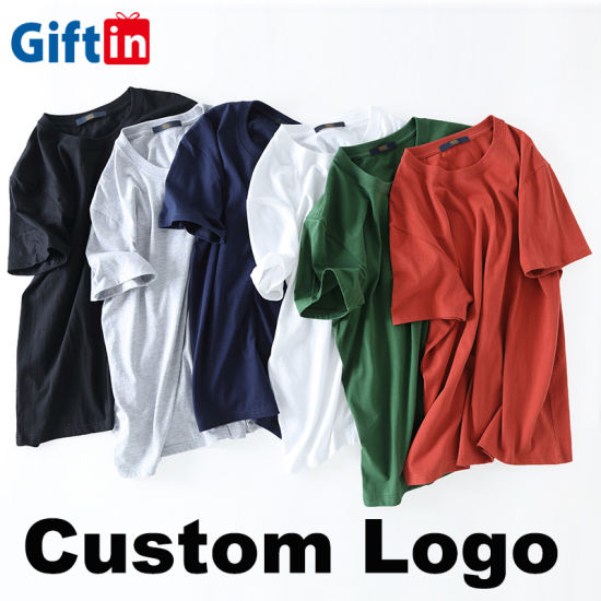 Wholesale Men's Custom Design Logo Unisex Women Kids Oversize Clothing Plain Embroider Blank Tee OEM ODM Fashion White 100% Cotton T Shirt O-Shirt Printing
