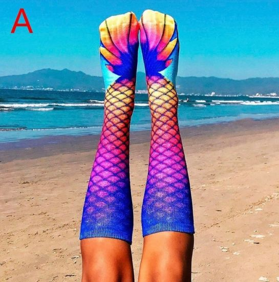 Socks Mermaid Pattern Knee High Tube Dresses Liner Cosplay Stockings pictures & photos