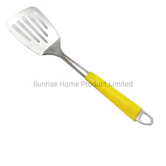 Kitchen Utensils Kitchen Tools Stainless Steel Slotted Turner With Hook Ktt095 China Cookware And Kitchen Knife Price Made In China Com