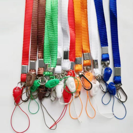 Hot Selling 1 Cm ID Card Rope Lanyards for ID Card Badge Holder