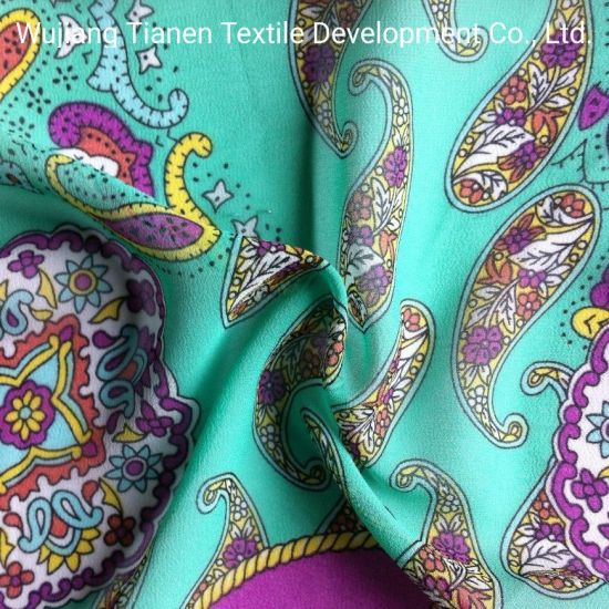 China 100 Polyester Printed Fabric Of Roller Printed For Dress