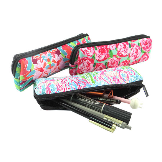 Flower Floral Cosmetic Pen Pencil Stationery Pouch Bag Case