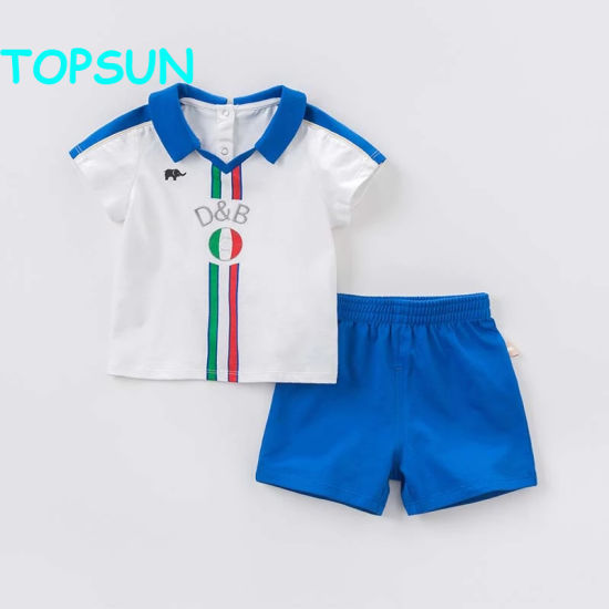 Summer Baby Boys White Clothing Sets Children Sport Suit Kid's High Quality Clothes