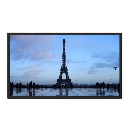 New Design Ultra Slim High Definition Wall Mounted LCD Display