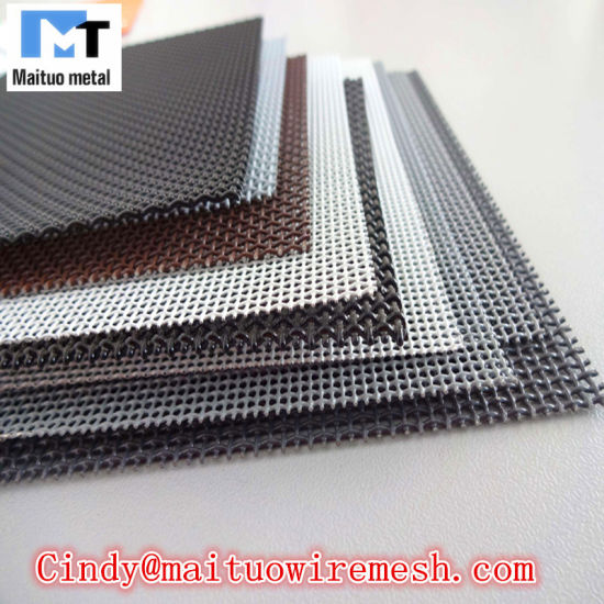 Insect Stainless Steel Mesh Screens Black Color with Powder pictures & photos