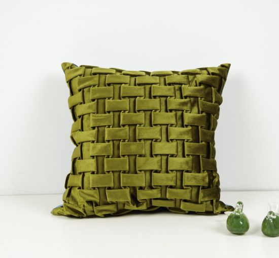 Living Room Green Pillow Fabric Sofa and Curtain Fabric 100%Polyester Upholster pictures & photos