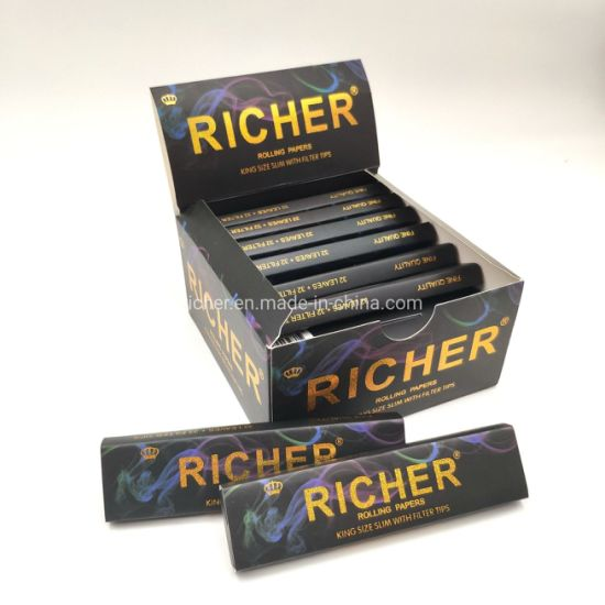 Richer Custom Natural Unbleached Hemp Rolling Paper with Filters