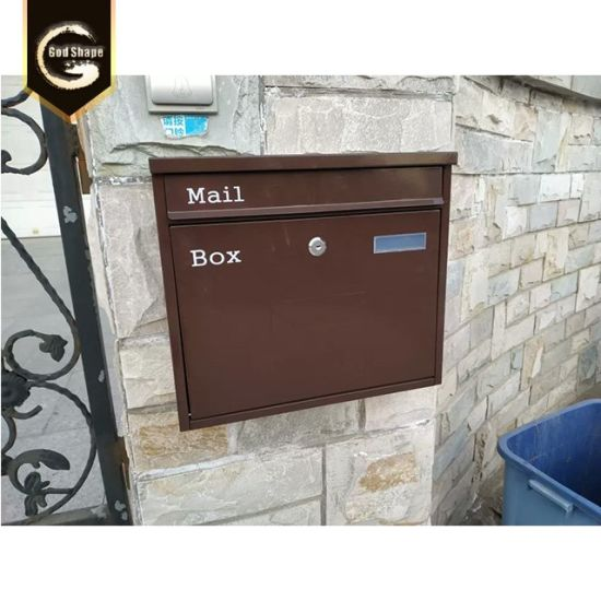 Metal Stainless Steel Large Mail Post Letter Box Lockable Front Loading
