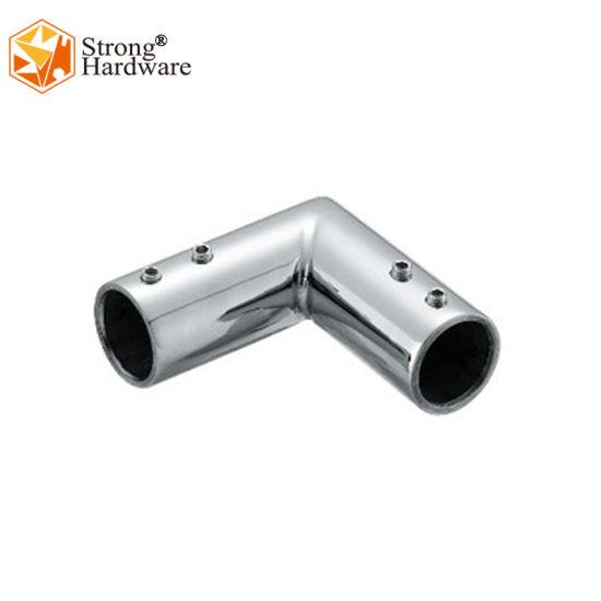 Corner 90degree Stainless Steel304 Sliding Bathroom Glass Door Tube Connector