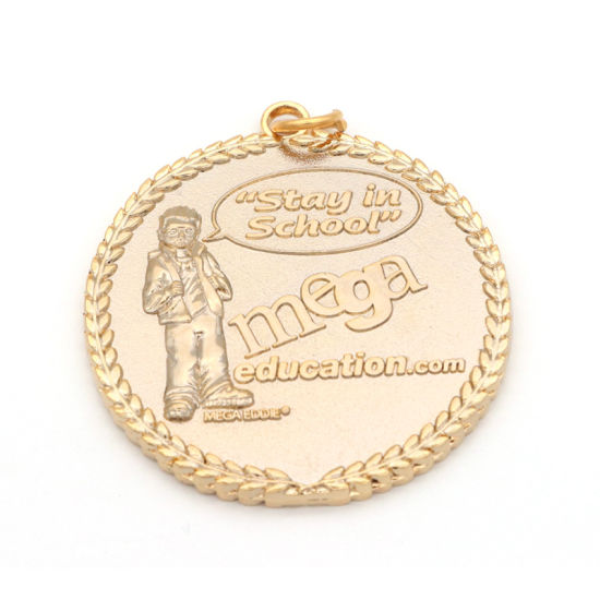 Copper Plated Gold Custom 3D Double Logo Football Sports Award Medal