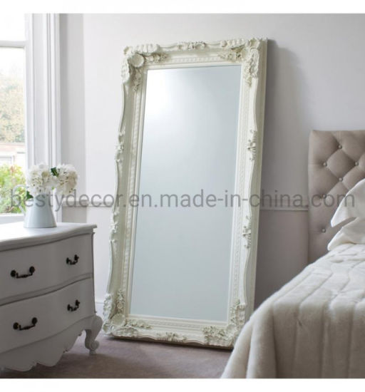 China Shabby Vintage Chic Wall Hanging, White Shabby Chic Full Length Wall Mirror