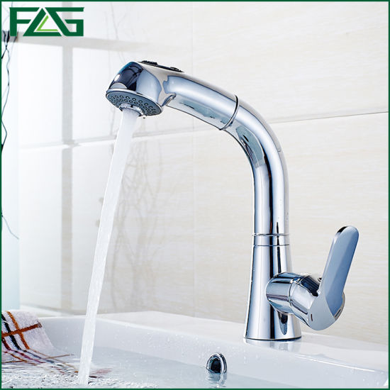 Flg Chrome Pull out Bathroom/Kitchen Faucet/Taps