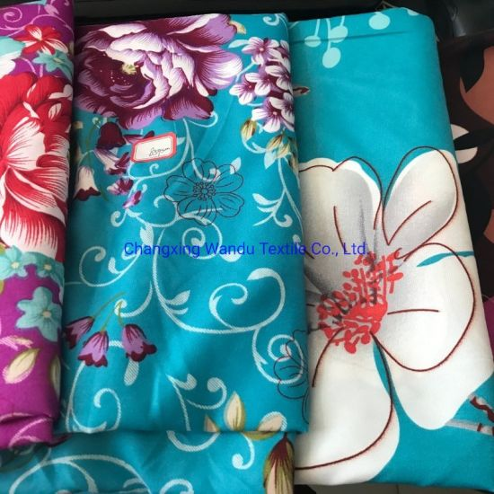 90GSM China Cheap Flower Printed 100 Percent Polyester Fabric
