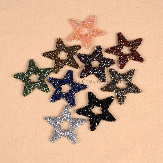 Wholesale Star Beads Hot Fix Crystal 9 Colors Applique Transfer Motif   Clothes Decorative Rhinestone Applique fa0cb3f40f62