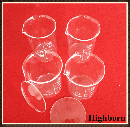 Tall Form Borosilicate Glass Measuring Beaker with Graduation pictures & photos