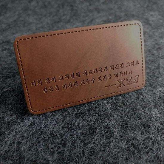 china newly fake leather tag and leather jeans labels china