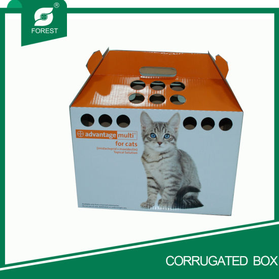 Custom Portable Corrugated Paper House Pet Packaging Box pictures & photos