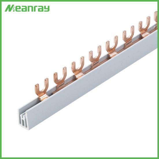 OEM Service Busbar Fork 2 Pole 63A U-Type MCB Copper Bus Bar