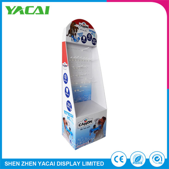 Folded Security Paper Floor Cardboard Display Stand for Stores pictures & photos