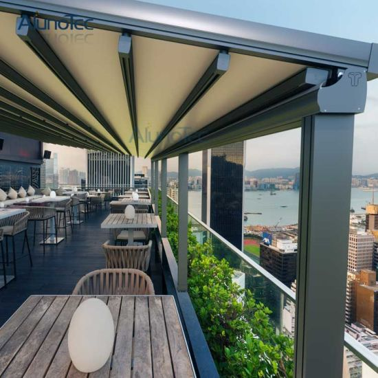 roof pergola awnings over small tecnic patio wooden maryland systems home awning at retractable canopy and a