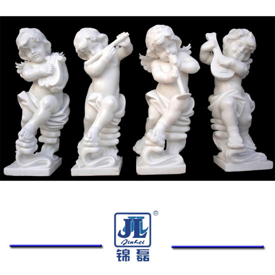 China Marble Small Angel Statues Stone Marble Sculpture For Garden
