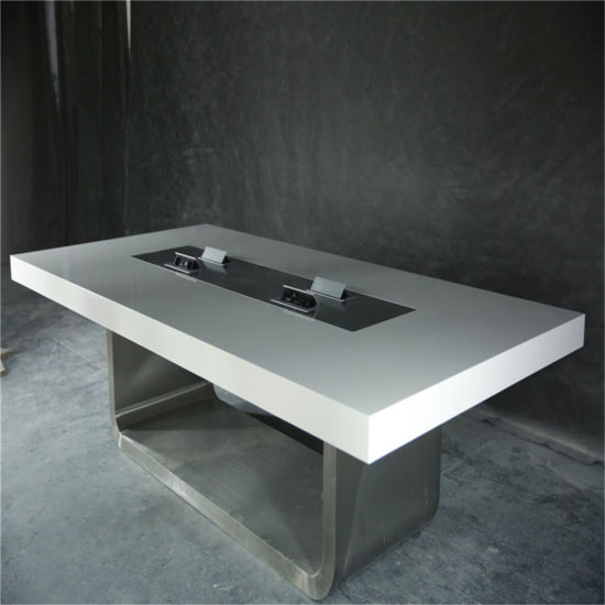 China New Design Artificial Marble Office TableAcrylic Conference - Corian conference table