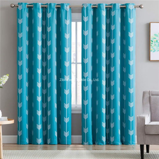 Simple Printed Blackout Window Curtain, Window Curtains Ideas For Living Room