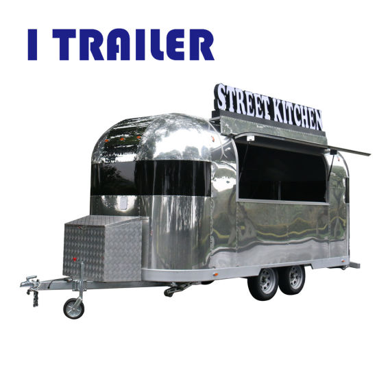 China Hot Sale Customized Mobile Food Cart Coffee Van By Auminum
