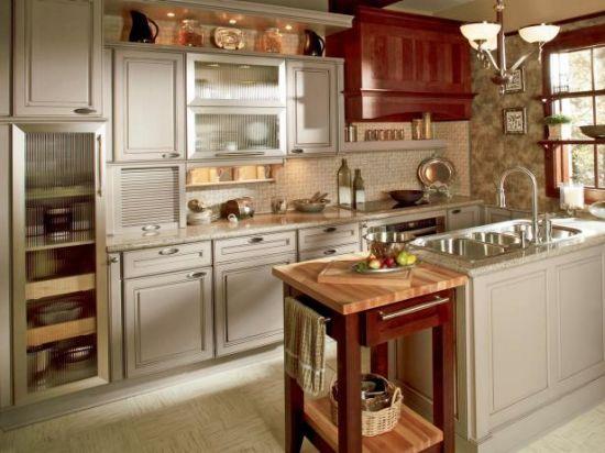China European Style Birch Cherry Solid Wood Frameless Kitchen