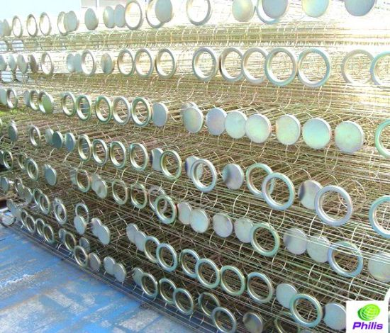 Industrial Dust Collector Fittings Galvanized Steel Filter Bag Cage