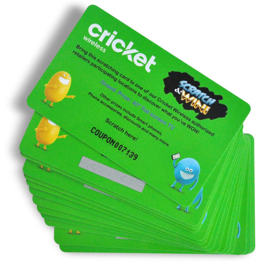 Customized Printing Pvc Scratch Card For Prize Lucky Draw Raffle Sweepstakes