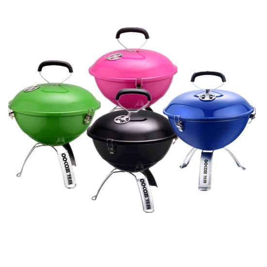 Hot Sale Fashion Portable Round BBQ Grill for Outdoor Camping pictures & photos