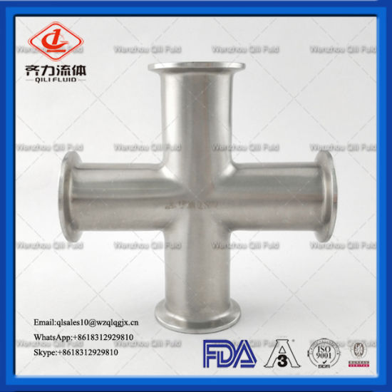 Sanitary Fittings Stainless Steel Tri Clamp Cross
