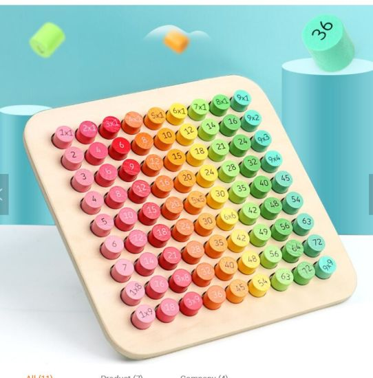 New Wooden Multiplication Tables Baby Math Digital Educational Learning Aids Toys