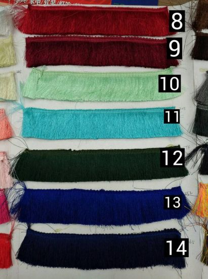 Wholesale More Colors 4cm Polyester Fringe Tassel for Home Textile Accessories