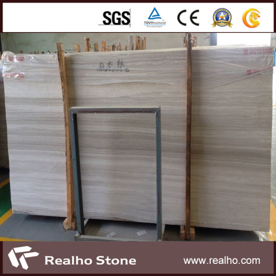 Very Straight And White Wooden Grain Marble Slab For Fireplace Mantel Surround Pictures Photos