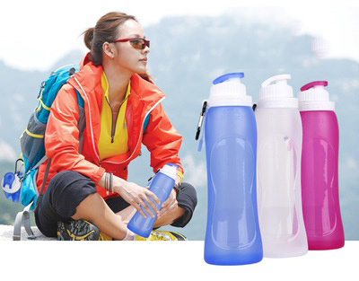 Portable Silicone Water Cup Folding Kettle Outdoor Sports Folding Water Bottle pictures & photos