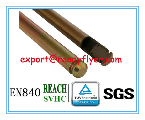 Semi-Hollow Axle for Mobile Garbage Bin Container