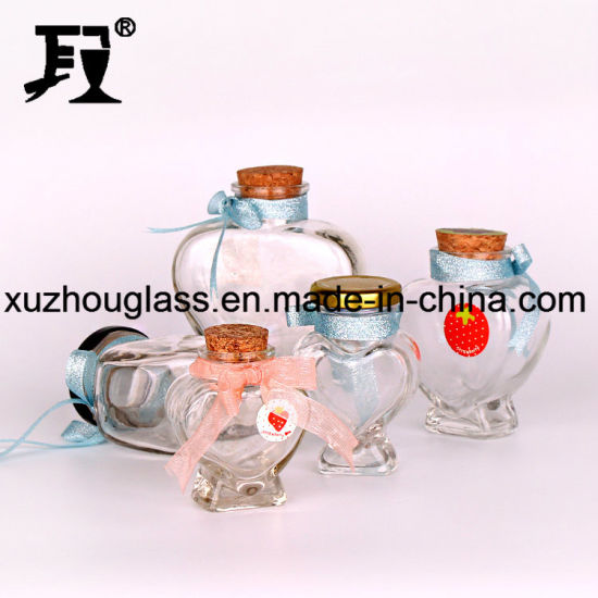 100ml Heart Shape Glass Jam Jars pictures & photos
